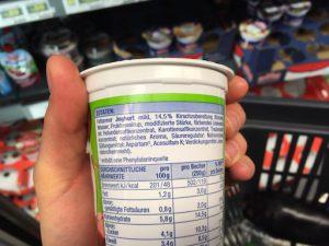 Inhaltsstoffe Fruchtjoghurt